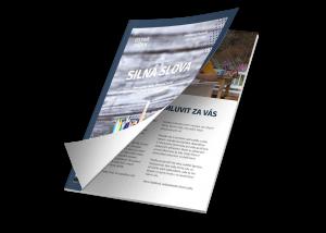 Tlač lepených brožúr